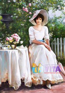 Портрет имитация живописи дамы