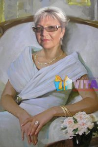 Имитация живописи женщина в кресле