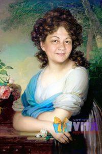 Портрет имитация живописи