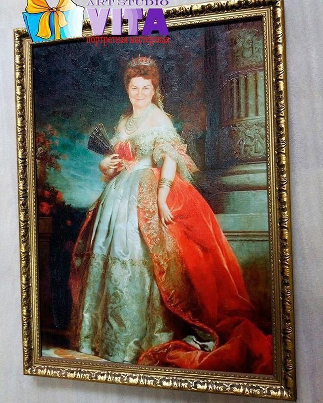 Портрет на холсте.Ну какая женщина не хочет себя хоть на часик ощутить императрицейИмитация живописи -  для ценителей прошедшей эпохи.Портретная мастерская #VitaStudio
