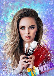 Портрет в стиле Гранж девушка косметолог