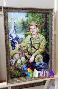 Портрет имитация живописи охотник