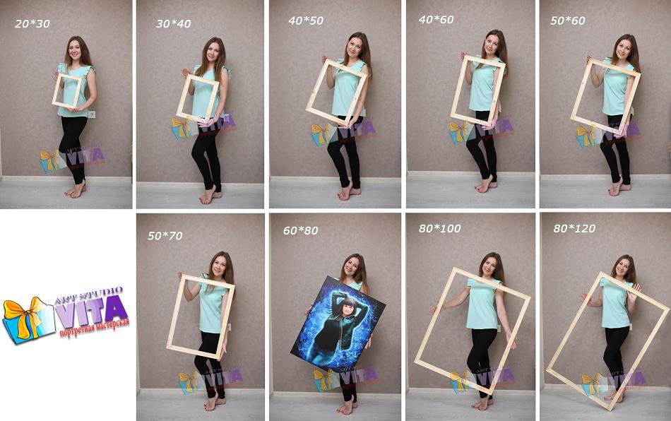 размеры портретов Vita Studio