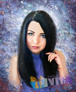 Портрет в стиле Гранж девушка