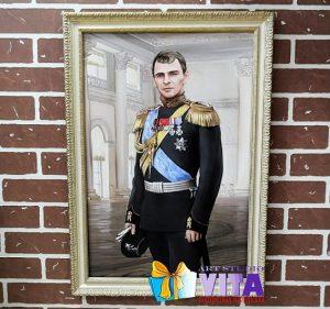 Портрет имитация живописи мужчина в мундире