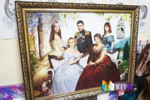 Портрет имитация живописи групповой портрет, семья