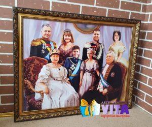 Портрет имитация живописи семейный портрет